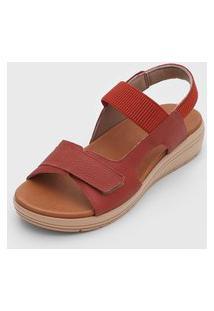 Sandália Usaflex Casual Vermelha