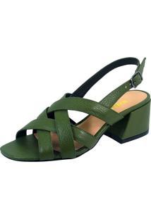 Sandália S2 Shoes Sabrina Verde Esmeralda