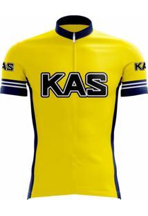 Camisa Uv Scape Kas Team Retro Amarelo