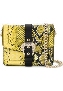 Versace Jeans Couture Bolsa Transversal Com Logo E Fivela - Amarelo