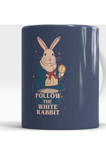 Caneca Follow The White Rabbit