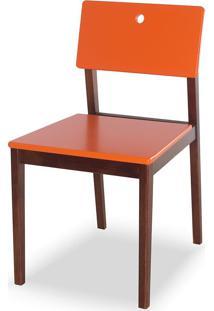 Cadeira Flip 81 Cm 921 Cacau/Laranja Novo - Maxima