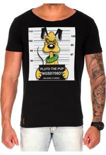 Camiseta Lucas Lunny T Shirt Gola Canoa Estampada Pluto