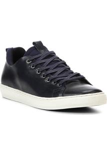 Sapatênis Shoestock Neoprene Couro Masculino - Masculino-Marinho