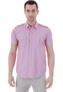 Camisa Casual Masculina Ocean Bay - Vermelho