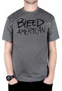 Camiseta Bleed American Logo Chumbo