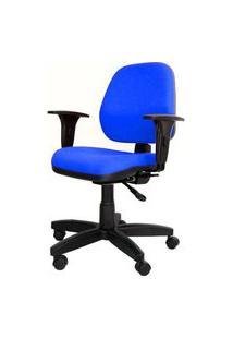Cadeira Corporate Executiva Cor Azul Com Base Nylon - 43975 Azul