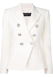 Balmain Blazer Com Detalhe De Abotoamento - Branco