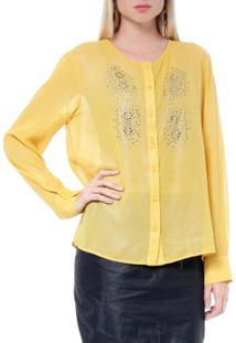 Camisa Com Termocolantes - Moché - Feminino-Mostarda