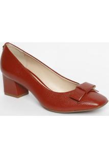 05741d9d8 ... Sapato Tradicional Em Couro Com Laço - Vermelho Escuro