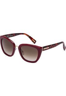 Óculos De Sol Victor Hugo Sh1747 01Aw/52 Bordô/Vermelho Mesclado