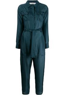 Katharine Hamnett London Eleanor Silk Boiler Suit - Verde