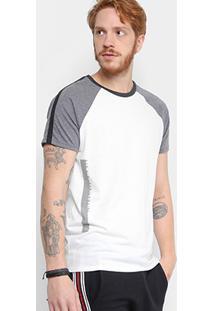 Camiseta Triton Estampa Lateral Masculina - Masculino-Branco