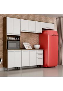 Cozinha Compacta Alpes 11 Pt 2 Gv Ipê E Branca
