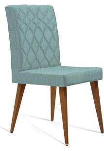 Cadeira De Jantar Edon Linho Azul Claro