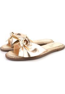 Rasteira Trivalle Shoes Laco Ouro