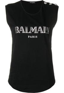 Balmain Regata Com Logo - Preto