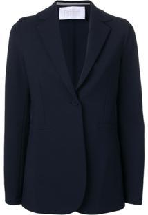 Harris Wharf London Blazer Slim Com Abotoamento Único - Azul