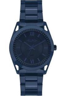 Relógio Euro Metal Frame Feminino - Feminino-Azul