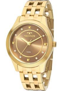 561843dee ... Relógio Feminino Technos Analógico - Unissex-Dourado