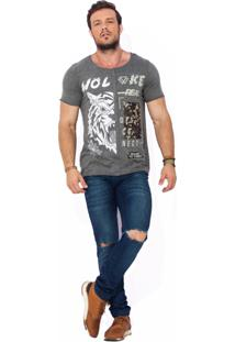 Camiseta Wolke Recorte Frontal Tiger Real