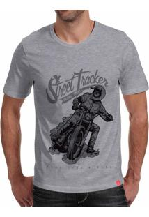 Camiseta Casual Sport Street Tracker Cinza