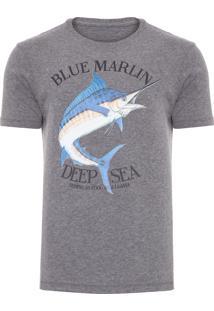 Camiseta Masculina Blue Marlin - Cinza