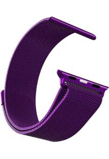 Pulseira Bestchoice Milanese Para Apple Watch 42Mm / 44Mm Roxo