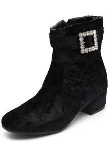 Bota Dafiti Shoes Pedraria Preto