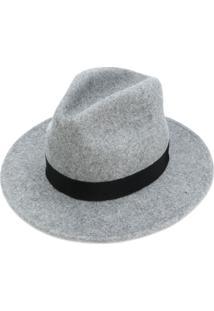 Dsquared2 Chapéu Fedora De Feltro - Cinza