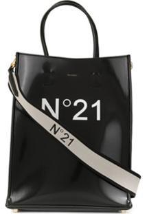 Nº21 Bolsa Tote Com Logo - Preto