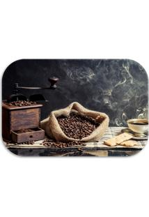 Tapete Decorativo Lar Doce Lar Coffee 40Cm X 60Cm Marrom