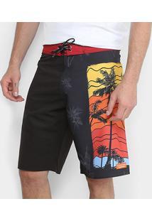 Bermuda D'Água Calvin Klein Pôr Do Sol Masculina - Masculino