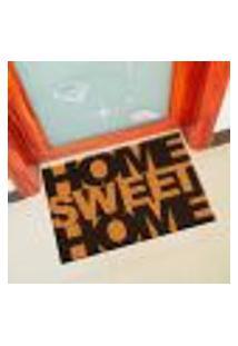 Capacho De Vinil Home Sweet Home Amarelo Único