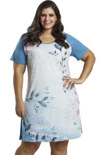 Camisola Recco Supermicro E Viscose Azul - Kanui