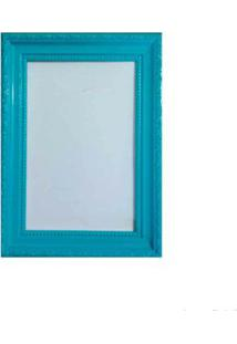 Porta Retrato 13X18Cm Queem Azul Turquesa Brilhante Infinity