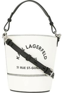 Karl Lagerfeld Bolsa Bucket Rue St Guillaume - Branco