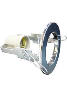 Spot Embutir Aco Redondo D-8Cm Lamp. E-27 - Prateado
