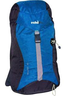 Mochila De Caminhada 30 Litros Midwood Com Capa Chuva Azul - Echolife