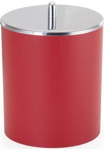 Lixeira Arthi 5L Vermelha Com Tampa Inox