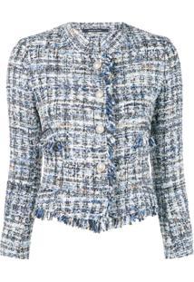 Tagliatore Jaqueta De Tweed Com Franjas - Azul