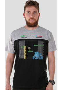 Camiseta Bandup! Bicolor Turma Da Mônica Cebolinha Sansão - Masculino