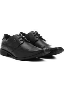 Sapato Social Couro Ferracini Chile - Masculino-Preto