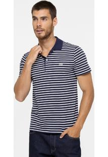 Camisa Polo Lacoste Piquet Listra Regular Fit - Masculino