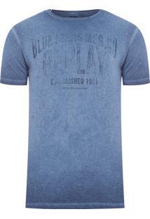 Camiseta Masculina Blue Jeans - Azul