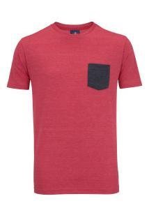 Camiseta Red Bull Racing Pocket - Masculina - Vermelho