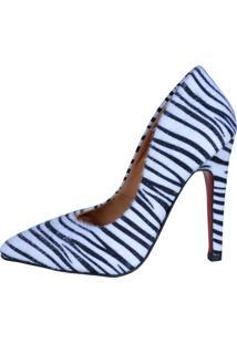 Scarpin Eagle Black - 7101 Zebra