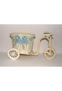 Kit 3X Cachepot Vaso Em Formato De Bicicleta P/ Decoração Rattan - Arte Tempo