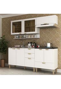 Cozinha Completa 5 Peã§As Americana Multimã³Veis 5917 Branco - Branco/Incolor - Dafiti