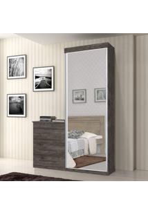 Cômoda Multiuso Com Espelho 1 Porta 4 Gavetas Thor J E A Móveis Itaúba